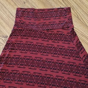 LuLaRoe Maxi Skirt- Ohio State colors...GO BUCKS!!